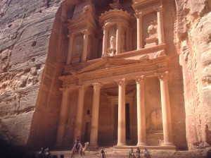 The iconic Treasury facade tomb at Petra