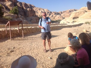 George Teaching at Petra