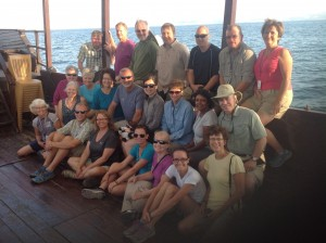 On the Boat on the Sea of Galilee